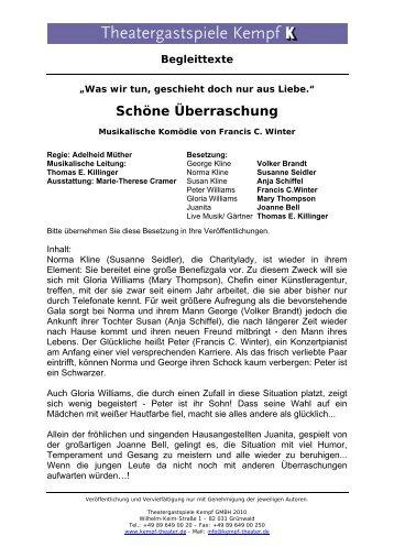 Schöne Überraschung - Theatergastspiele Kempf GmbH