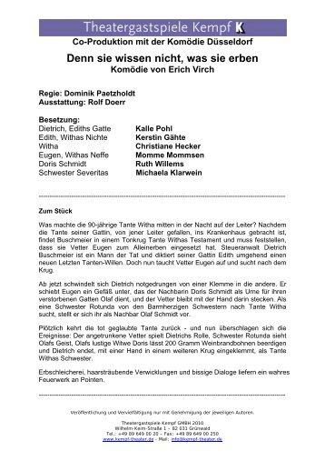 Spielorte der Tournee - Theatergastspiele Kempf GmbH