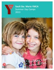 Sault Ste. Marie YMCA Summer Day Camps 2013