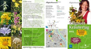 """""""Allgäuer Kräutertag 2013"""" (pdf) - Stadt Kempten"""