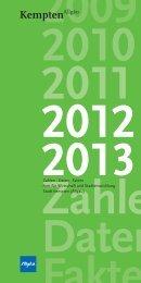 Zahlen · Daten · Fakten Amt für Wirtschaft und ... - Stadt Kempten