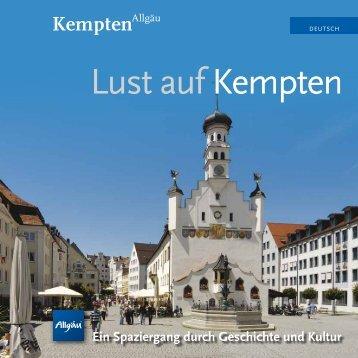 """Flyer """"Lust auf Kempten"""" als pdf zum Download - Stadt Kempten"""