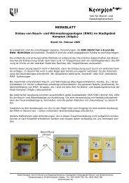 Einbau von Rauch- und Wärmeabzugsanlagen - Stadt Kempten