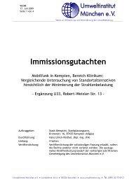 Immissionsgutachten Erg. - Stadt Kempten