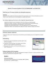 Garmin Firmware-Update V2.30 für DNX8220BT und ... - Kenwood