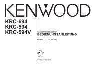 KRC-694 KRC-594 - Kenwood