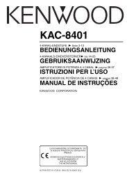 KAC-8401 - Kenwood