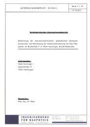 Gutachten Gewerbelärm Bebauungsplan Breitenfeld II - Kenzingen