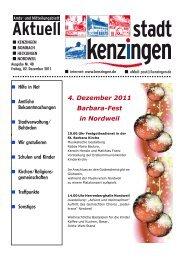 4. Dezember 2011 Barbara-Fest in Nordweil - Kenzingen