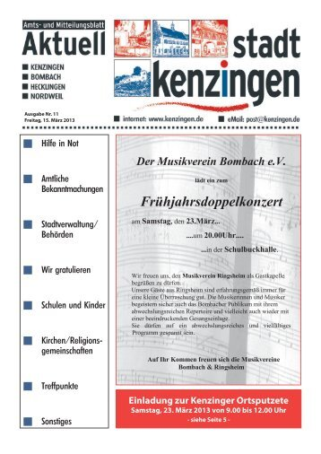 Ausgabe 11 2013 - Kenzingen