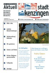 Ausgabe 13 2013 - Kenzingen