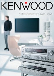 Home Entertainment 2003 – 2004 - Kenwood