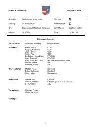Niederschrift vom 14.02.2013 - Kenzingen