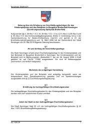 Zuordnungssatzung Spielplatz Breitenfeld - Kenzingen
