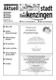 Ausgabe 20 2010 - Kenzingen
