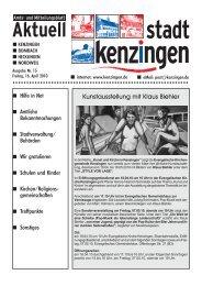Ausgabe 15 2010 - Kenzingen