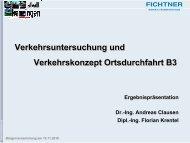 Präsentation Verkehrsuntersuchung Ortsdurchfahrt B3 - Kenzingen
