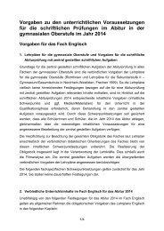 Vorgaben Abitur 2014 - Standardsicherung NRW