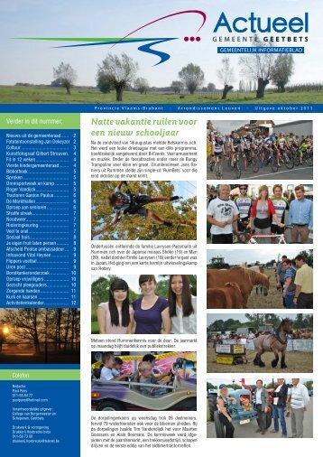 Oktober 2011 - Gemeente Geetbets