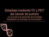 Estiadaje mediante TC y PET del cáncer de pulmón