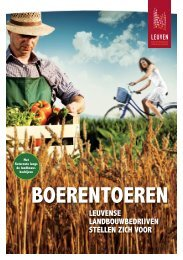 Brochure 'Boerentoeren' - Stad Leuven
