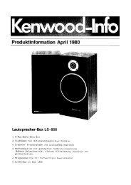 Lautsprecher-Box LS-800 - Kenwood