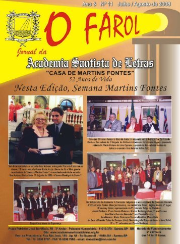 O FAROL 11 - Academia Santista de Letras
