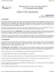 Arquivo formato PDF - Casa Publicadora Brasileira