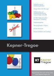 Broschüren Download - Kepner-Tregoe
