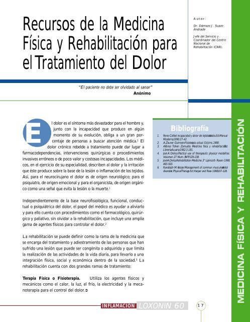Recursos de la Medicina Física y Rehabilitación para el ... - IntraMed