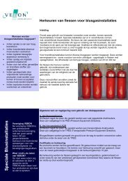 Herkeuren van flessen voor blusgasinstallaties - Vebon