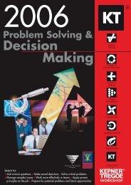 Problem Solving & Decision Making - Kepner-Tregoe