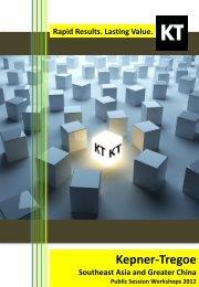 benefits - Kepner-Tregoe