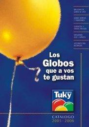 Catálogo completo - GLOBOS TUKY