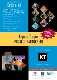 Kepner-Tregoe ProjecT ManageMenT