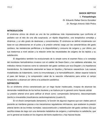 FISIOPATOLOGÍA DE SHOCK SÉPTICO EN PEDIATRÍA