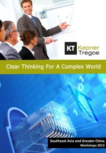 Download 2013 Catalogue - Kepner-Tregoe