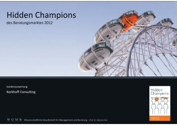 Hidden Champions - Kerkhoff Consulting GmbH