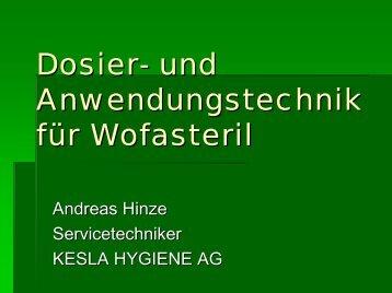 Dosiertechnik der Kesla Hygiene AG - Kesla.de