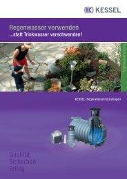 Regenwasser verwenden Qualität Sicherheit Erfolg - Kessel