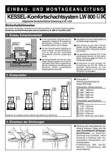 KESSEL-Komfortschachtsystem LW 800