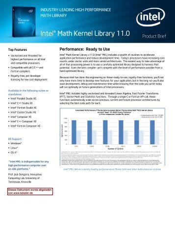 Intel mkl Manual