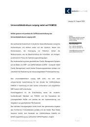 Universitätsklinikum Leipzig setzt auf FAMOS - Keßler Real Estate ...