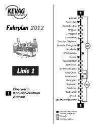 Linie 1 - kevag