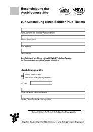 Bescheinigung Schüler-Plus Ticket - kevag