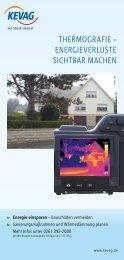 Thermografie – energieVerlusTe sichTbar machen - kevag