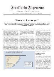 Wann ist Luxus gut? - Marketing-Club Bremen eV