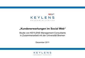 Kundenerwartungen im Social Web - KEYLENS Management ...