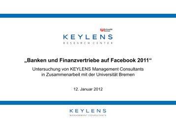 Banken und Finanzvertriebe auf Facebook - KEYLENS ...