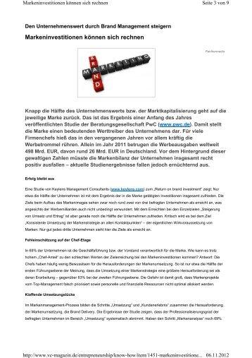 Markeninvestitionen können sich rechnen - KEYLENS Management ...